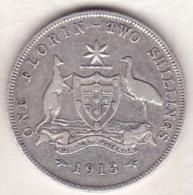 Australie , 1 Florin 1913  L (LONDRES) , George VI, En Argent - Monnaie Pré-décimale (1910-1965)