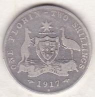 Australie , 1 Florin 1917 M (Melbourne) George VI, En Argent - Monnaie Pré-décimale (1910-1965)