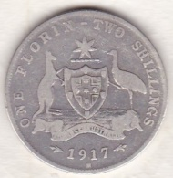Australie , 1 Florin 1917 M (Melbourne) George VI, En Argent - Florin
