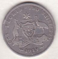 Australie , 1 Florin 1919 M (Melbourne),  George VI, En Argent - Monnaie Pré-décimale (1910-1965)