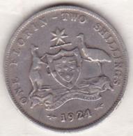 Australie , 1 Florin 1924  (Melbourne),  George VI, En Argent - Monnaie Pré-décimale (1910-1965)