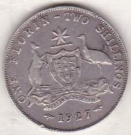 Australie , 1 Florin 1927  (Melbourne),  George VI, En Argent - Monnaie Pré-décimale (1910-1965)