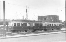 SITTARD (Pays Bas)  Photographie Format Cpa Tramway électrique Sittard Heerlen En Gare Vers 1950 - Sittard