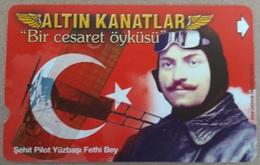 Télécarte Souple  Turk Télécom 60 Aviation - Avions