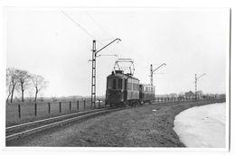 EDAM Environs (Pays Bas)  Carte Photo Tramway électrique Volendam Amsterdam 1955 - Edam