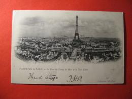 CPA  PARIS -   PANORAMA DE PARIS LE PARC DU CHAMP DE MARS ET LA TOUR EIFFEL     CIRCULE'  - C-  885 - Unclassified