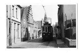 MONNIKENDAM (Pays Bas) Carte Photo Tramway électrique Ligne Volendam Amsterdam 1955 - Autres