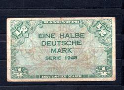 9249 Deutschland, Germany, Alliierte Besetzung, 1/2 Mark Gebraucht, Ro 230 - 1945-1949: Alliierte Besatzung