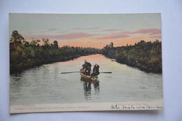 VALDIVIA-pesca En El Rio Cau-cau-barque Avec Pecheurs - Chili