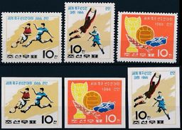 Soccer Football Korea Coree #711/3 A+B 1966 World Cup England MNH ** - 1966 – England
