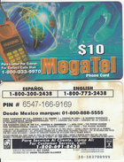 PUERTO RICO - Megatel By IDT Prepaid Card $10, Exp.date 3 Months After First Use, Used - Puerto Rico