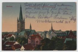 AK Bochum, Probstei-Kirche Mit Elisabeth-Krankenhaus, Gelaufen 1919 - Bochum