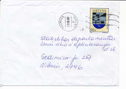 Mi 652 Solo Domestic Cover - 9 January 1998 Tauragė - Lithuania