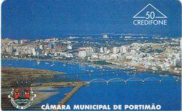 PHONECARDS-PORTUGAL-OPTICAL-HOLOGRAPHICAL--50 U- PORTUGAL TELECOM-- CAMARA MUNICIPAL PORTIMÃO---BATCH-602L - Portugal