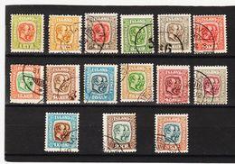 MAG1371  ISLAND 1907  Michl  48/62 Kompletter SATZ  Used / Gestempelt  ZÄHNUNG Siehe ABBILDUNG - 1873-1918 Dänische Abhängigkeit
