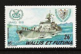 WALLIS FUTUNA 1989 SHIPS FRIGATE IMO SET MNH - Unused Stamps