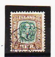MAG1369  ISLAND 1907  Michl  61 Used / Gestempelt ZÄHNUNG Siehe ABBILDUNG - 1873-1918 Dänische Abhängigkeit