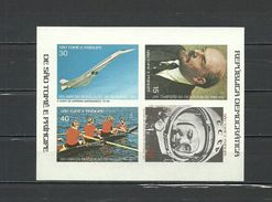 SAO TOME & PRINCIPE 1977  Olympics Olympic Games  Moscow 1980, Gagarin, Lenin, Aviation  Collective Sheet Imperf.  Rare! - Summer 1980: Moscow