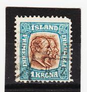 MAG1368  ISLAND 1907  Michl  60 Used / Gestempelt ZÄHNUNG Siehe ABBILDUNG - 1873-1918 Dänische Abhängigkeit