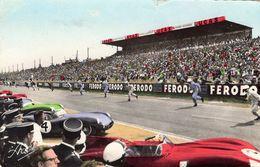 24 Heures Du Mans 1959  -  Le Signal De Départ  -  Jaguar D Type - Aston Martin  -  CPA - Le Mans