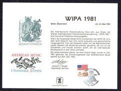 Souvenir Card  - WIPA 1981 - Souvenirs & Special Cards