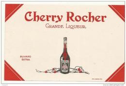 BUVARD NEUF SUPERBE  THEME  LIQUEUR  CHERRY ROCHER - Liqueur & Bière