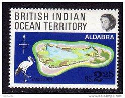 BRITISH INDIAN OCEAN TERRITORIES BIOT - 1969 ALDABRA CORAL REEF FINE MNH ** SG31 - Cranes And Other Gruiformes