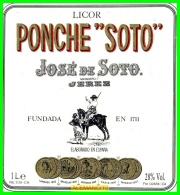 ETIQUETA  BODEGAS  JOSÉ DE SOTO   JEREZ DE LA FRONTERA - Etiquetas