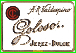 ETIQUETA  BODEGAS  A.R. VALDESPINO  JEREZ DE LA FRONTERA - Etiquetas