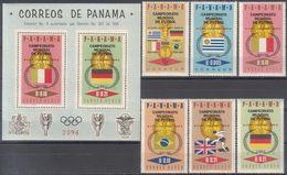 Soccer Football Panama #879/84 + Bl 51 1966 World Cup England MNH ** - World Cup