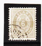 MAG1308  ISLAND 1876  Michl  7 B  Used / Gestempelt  ZÄHNUNG Siehe ABBILDUNG - 1873-1918 Dänische Abhängigkeit