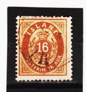 MAG1309  ISLAND 1876  Michl  9 A  Used / Gestempelt  ZÄHNUNG Siehe ABBILDUNG - 1873-1918 Dänische Abhängigkeit