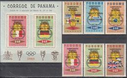 Soccer Football Panama #904/9 + Bl 55 1966 World Cup England MNH ** - World Cup