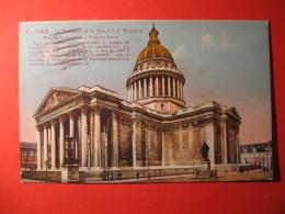 CPA  PARIS -  LE PANTHEON ET LA STATUE J J ROUSSEAU   CIRCULE' Oblitération  - C-  907 - Unclassified