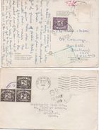 TWO POSTAL HISTORY ITEMS - POSTAGE DUE STAMPS 2d And 3d With To Pay Charge Marks - Postmark Collection