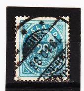 MAG1313  ISLAND 1882  Michl  14 A  Used / Gestempelt  ZÄHNUNG Siehe ABBILDUNG - 1873-1918 Dänische Abhängigkeit