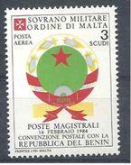 1983 ORDRE MALTE PA 8 ** Armoirie Bénin, Issu De Paire - Malte (Ordre De)