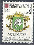 1984 ORDRE MALTE PA 16 ** Armoirie Côte D'Ivoire , Issu De Paire - Malte (Ordre De)