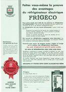 Publicité  Réfrigérateur FRIGECO - Publicidad