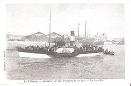 TREPORT SOUVENIR PROMENADE EN MER  LA PICARDIE 1904 BATEAU NAVIRE TOURISME - Le Treport