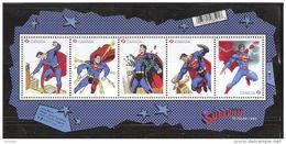 CANADA 2013, #2677, NEW, SUPERMAN 75th,  5 Single  Souvenir Sheet  MNH - Blocs-feuillets