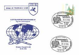 Germany 1994 Postal Stationery Cover Cancellation 25-Jun-1994 Wunstorf, 25 Year Transall C-160 - Aviones