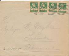 Switzerland Cover Sent To Denmark Luzern 4-5-1925 - Covers & Documents