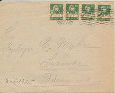 Switzerland Cover Sent To Denmark Luzern 4-5-1925 - Suiza