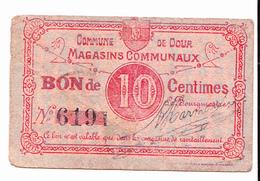 BON De 10c COMMUNE De DOUR 14-18 - [ 3] Occupations Allemandes De La Belgique