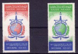 Saudi Arabia 1974, 50th Interpol, 2val - Police - Gendarmerie