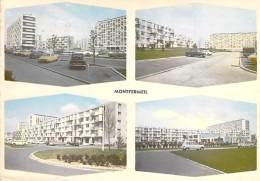 93 - MONTFERMEIL Multivues ( HLM Immeubles Cités Automobiles : DS 19 AMI 6 4 L  - CPSM Dentelée GF 1963   Seine St Denis - Montfermeil
