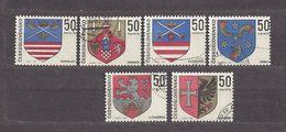 Czechoslovakia Tschechoslowakei 1969 Gest Mi 1904-1909 Sc 1652-1657 Arms. Städtewappen. C2 - Czechoslovakia