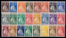 PORTUGAL, AF 396/419, Yv 414/37, * MLH, F/VF, Cat. € 265,00 - 1910-... République