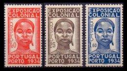 PORTUGAL, AF 561/63, Yv 572/74, * MLH, F/VF, Cat. € 90,00 - 1910-... République
